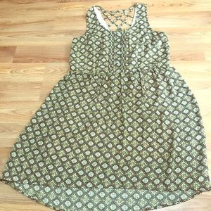 Daniel Rainn - Olive Hi-Low Knee Length Dress Sz S
